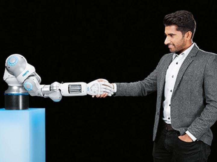 A robótica pneumática da Festo encontra inteligência artificial