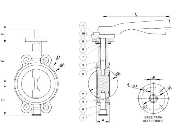 Válvula Borboleta : Construção da Válvula
