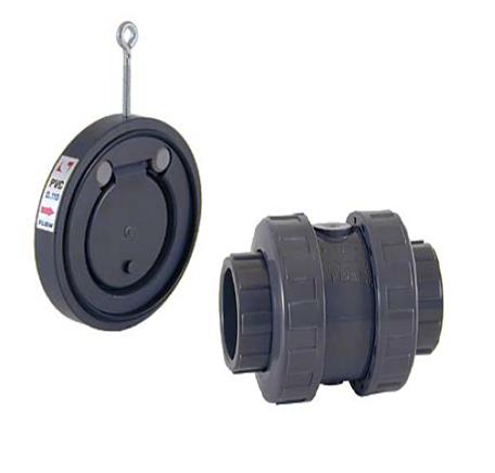 Válvula de retenção portinhola de PVC